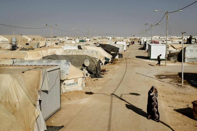 Zaakari flygtningelejr, hvor over 120.000 syriske flygtninge sidder på uvis tid. Lejren er verdens anden største flygtningelejr og er placeret midt i ørkenen.