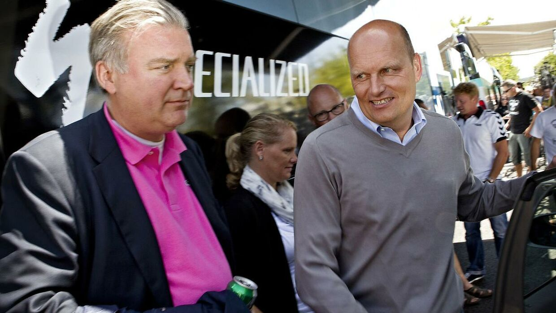 Bjarne Riis og Lars Seier Christensen nærer et tæt venskab.