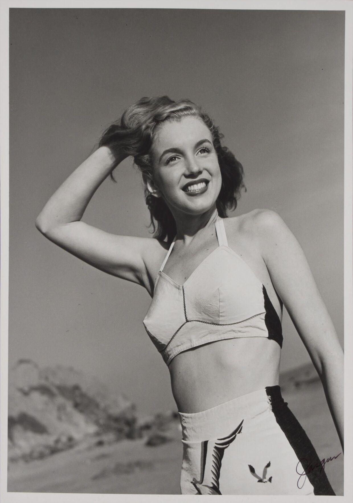 1950erne handler om sex, men på en dydig måde. Torpedobrysterne, her på en ung Marilyn Monroe, dukker op for første gang.Foto: Joseph Jasgur/EPA/Julien Auctions