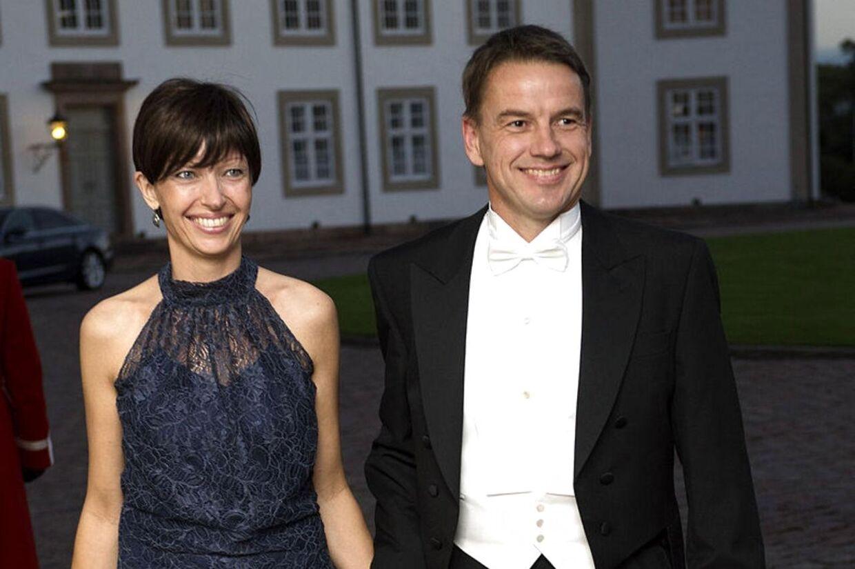 Karin Friis Bach fik konstateret brystkræft i januar. Her er hun med sin mand, den netop afgåede udviklingsminister, til gallamiddag på Fredensborg Slot i september i år. Foto: Keld Navntoft / Scanpix