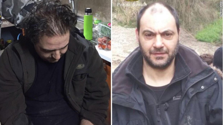 Italiensk politi har offentliggjort disse to billeder af de anholdte mafia-bosser.