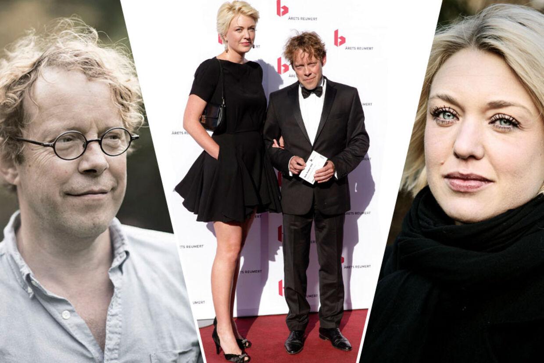 Søren Sætter Lassen da han ankom til årets Reumert-prisuddeling i weekenden med sin nye forlovede, forfatteren Christel Wiinblad.