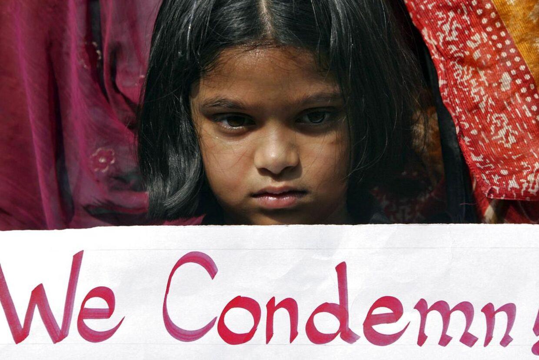En tre-årig pige er blevet udsat for gruppevoldtægt i Indien. Arkivbillede.