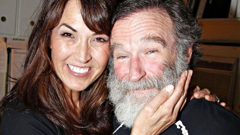 Susan Schneider Williams og afdøde Robin Williams.