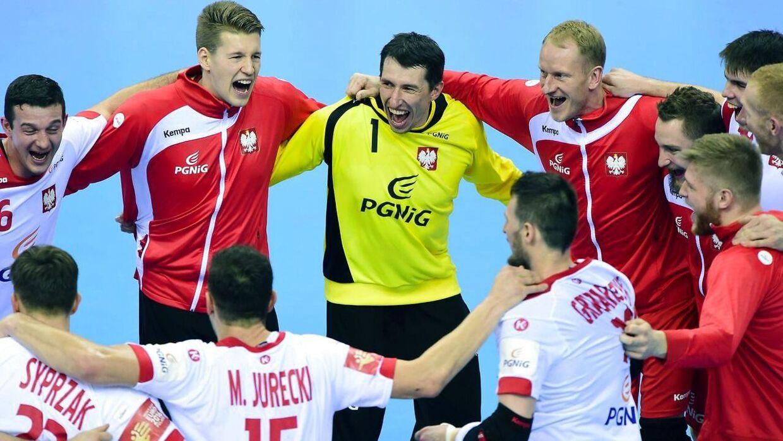 De polske spillere havde alt mulig grund til at juble efter sejren over Frankrig.