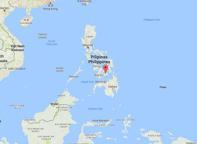 På kortet: Den filippinske turistø Bohol.