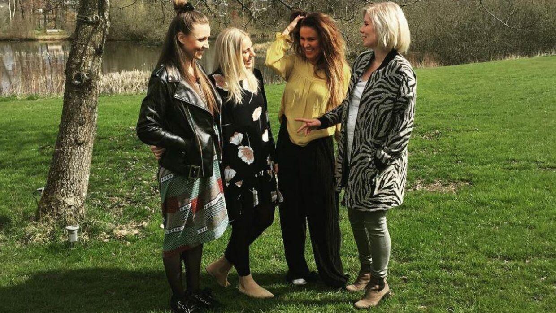 Det var billedet af (fra venstre mod højre) Stephanie Fisker, Anna Maria Olsen, Diana Bach Bak og Majsa Barner, der fik reaktionerne til at strømme ind.