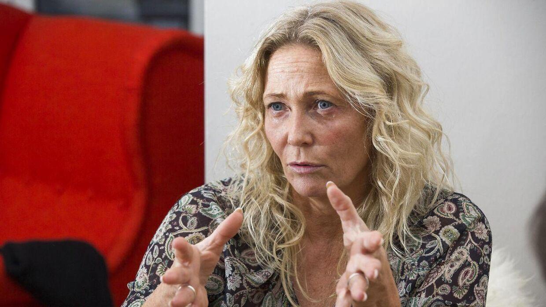 Tidl MEP for Dansk Folkeparti Rikke Karlsson under interview i Bruxelles efter hun blev loesgaenger. Foto: Erik Luntang