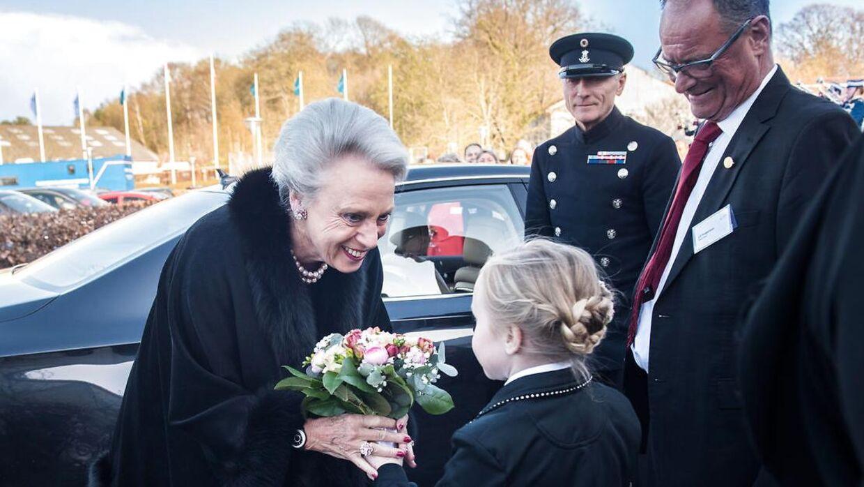 Prinsesse Benedikte smilede stort, da hun lørdag aften deltog i Dansk Rideforbunds 100 års jubilæum.