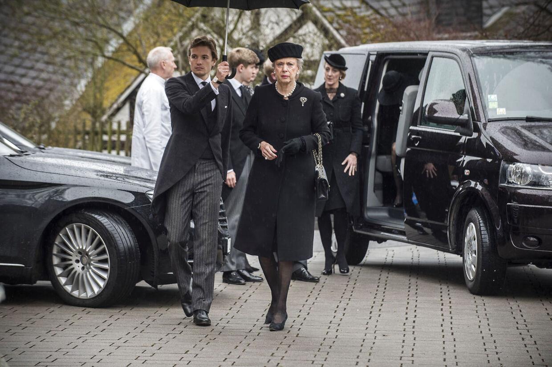 Det er blot en måned siden, at prinsesse Benediktes mand, prins Richard, blev bisat i Bad Berleburg.