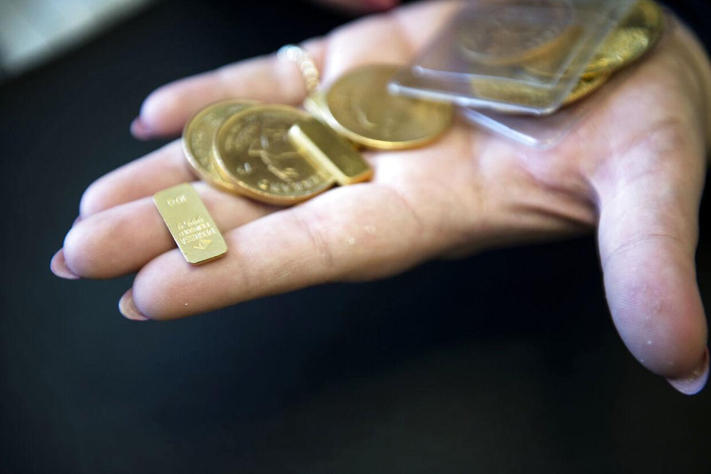 Hos Nyfortuna får de også mere klassiske værdier ind til salg eller pant, blandt andet små guldbarre og guldmønter