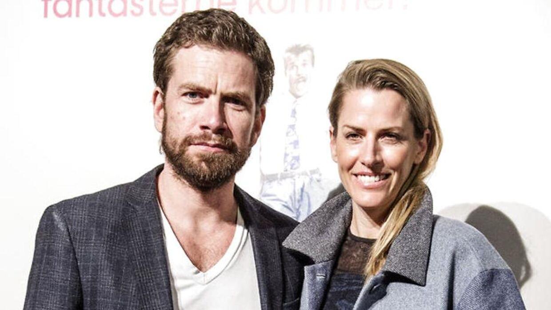 Nikolaj Lie Kaas med konen Anne Langkilde.