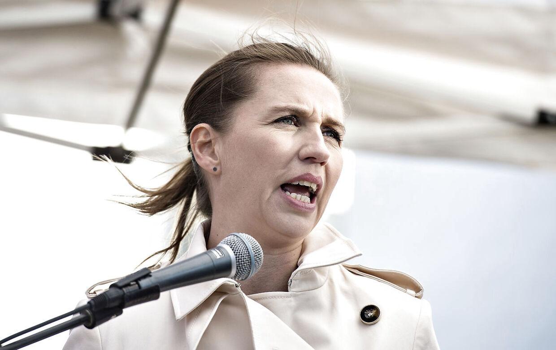 Socialdemokratiets formand Mette Frederiksen fotograferet 1.maj 2017