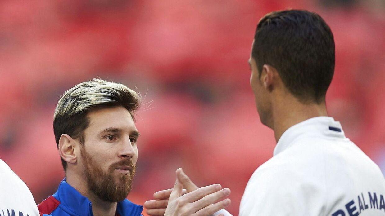 Cristiano Ronaldo (th) har stor respekt for Lionel Messi.