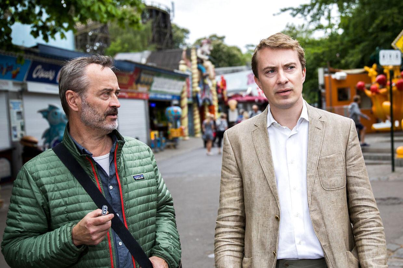 BT's politiske reporter Søren Mortensen interviewer Morten Messerschmidt på Bakken.