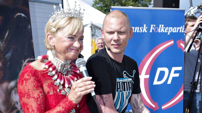 Jim Lyngvild og Pia Kjærsgaard ses her sammen på Folkemødet i 2014.