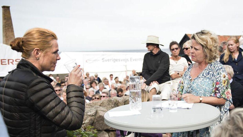 Debat mellem Inger Støjberg og erhvervskvinden Stine Bosse på Folkemødet 2017 torsdag d. 15 juni 2017. (Foto: Ida Guldbæk Arentsen/Scanpix 2017)