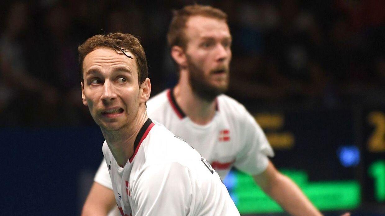 Mathias Boe (forrest) og Carsten Mogensen tabte finalen i Indonesien til det kinesiske par Liu Yuchen og Li Junhui.
