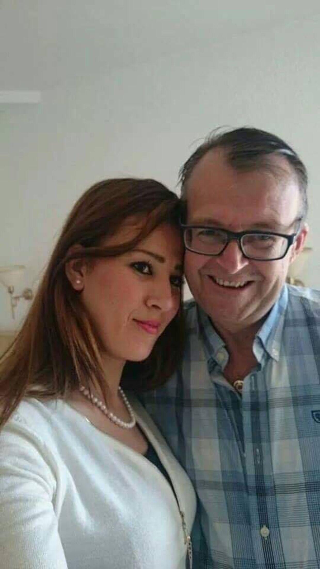 Carsten Bo Pedersen sammen med sin kone, Hanene
