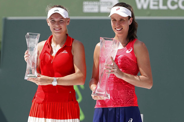 Tidligere i 2017 vandt engelske Johanan Konta over den danske tennisstjerne Caroline Wozniacki ved tunreringen Miami Open.
