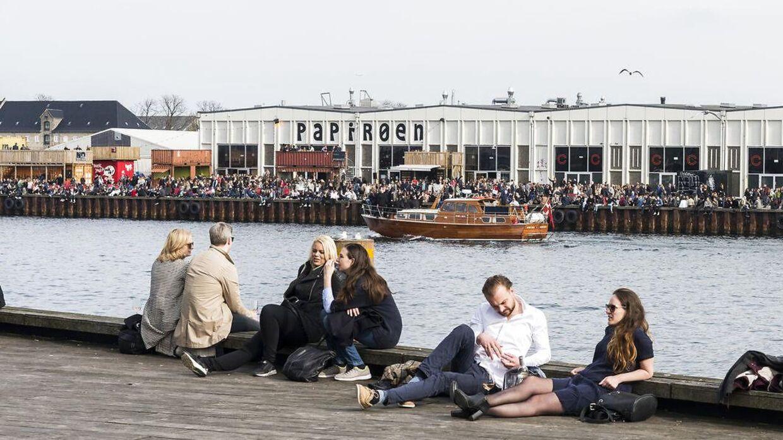 Det unge par besøgte blandt andet Papirøen i København. Arkivfoto