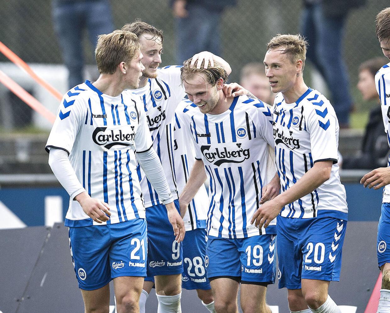 Silkeborg IF - OB, Alka Superliga, Play-Off, Mascot Park, 16.maj : OBs Mikkel Desler udligner til 1-1 (foto: Henning Bagger / Scanpix 2017)