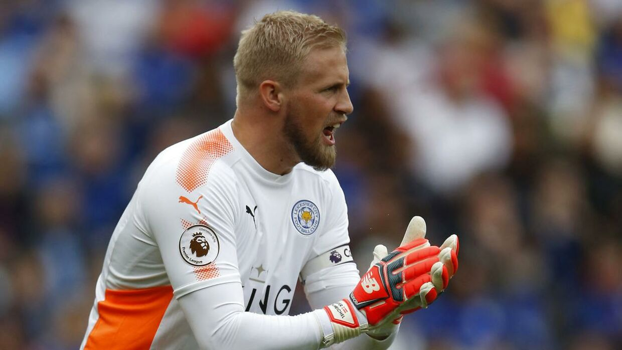 Kasper Schmeichel (bill.) kan ende i Manchester United, hvis Real Madrid får held til at købe United-keeper David de Gea.