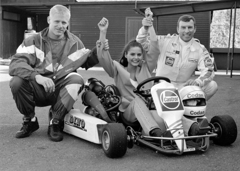 KendisAllerede inden Maria Hirse fik sin tv-debut på 'Lykkehjulet', var hun en del af de danske kendiscirkler. Her ses hun sammen med fodboldstjernen Peter Schmeichel og racerkøreren Thorkild Thyrring i 1993 - det år, hun repræsenterede Danmark i skoønhedskonkurrencen Miss Universe.
