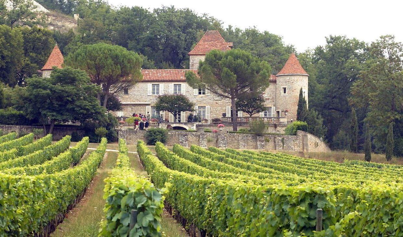 Chateau de Cayx i landsbyen Caïx omkring tyve kilometer fra Cahors.