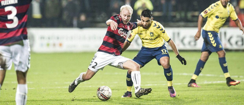 Rezan Corlu (th.) er aldrig rigtigt slået igennem på førsteholdet i Brøndby, men ikke desto mindre skifter han nu til AS Roma