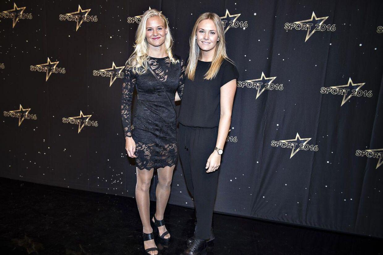 Pernille Harder med sin kæreste Magdalena Eriksson under DR's årlige Sportsgalla show.