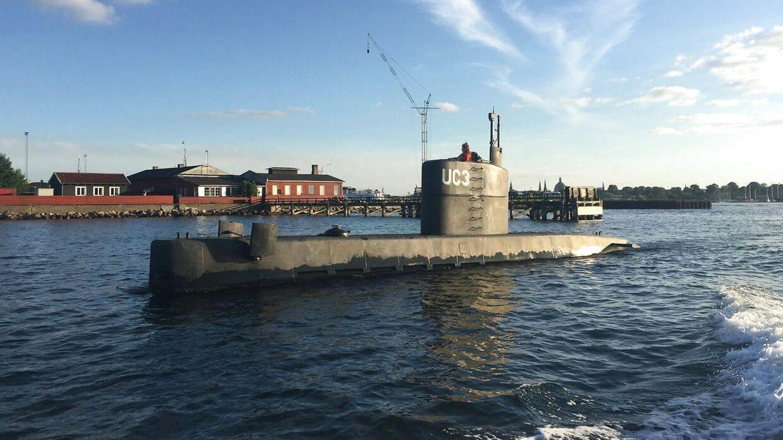 Der blev torsdag aften omkring klokken 19.30 taget dette billede af ubåden 'Nautilus' i Københavns Havn.