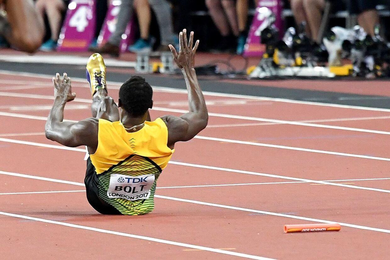 Usain Bolt tabte depechen, da han blev skadet.