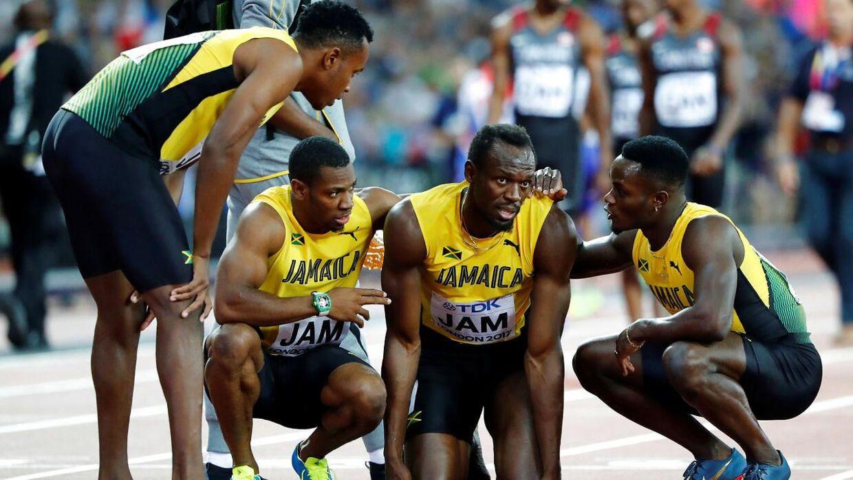 Usain Bolt sluttede karrieren af med at få en skade.