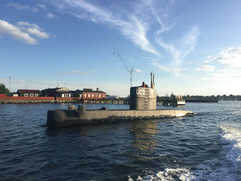 Dette billede blev taget af ubåden torsdag aften, da Peter Madsen sejlede ud med den svenske avis Kim Wall.