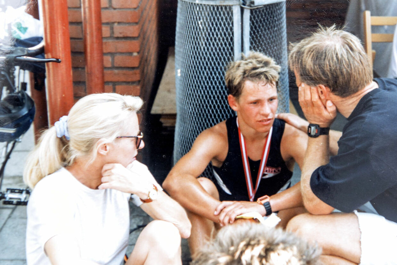 Ole Hansen og sønnen Mads fra dengang Mads var teenager.
