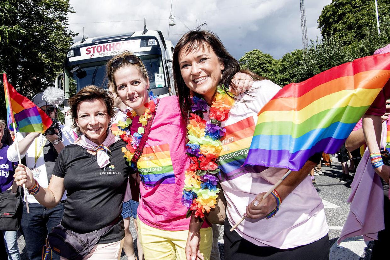 Her ses minister for ligestilling og den nye fiskeriminster Karen Ellemann, Sundhedsminister Ellen Trane Nørby og Sophie Løhde, minister for offentlig innovation.