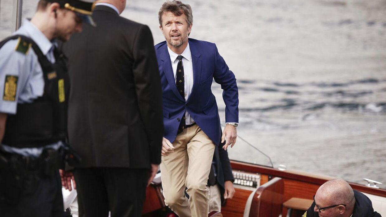 HKH Kronprins Frederik var til rejsegilde på Aarhus Internationale Sejlsportscenter, da nyheden om hans fars ønsker skabte medie-røre. Foto: Asbjørn Sand. (Foto: SAND ASBJØRN/Scanpix 2017)