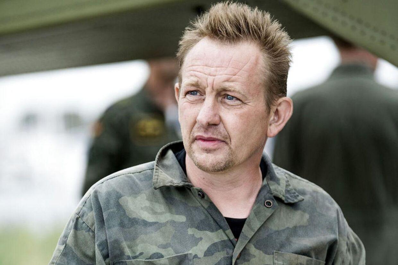 Ubådsejer Peter Madsen, som han så ud, da han kom i land i Dragør Havn fredag 11. august. Forinden var hans ubåd sunket i Køge Bugt.