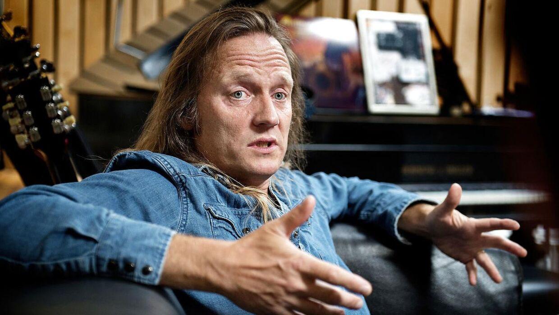 Jesper Binzer har har under pause hos DAD indspillet soloalbum her i Medley Studios på Vesterbro.