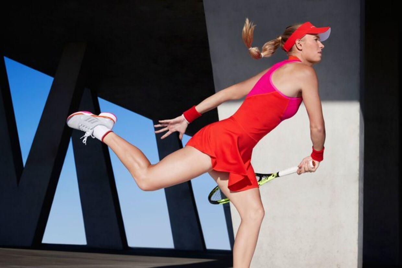 Sådan ser Wozniackis kjole til US Open ud.