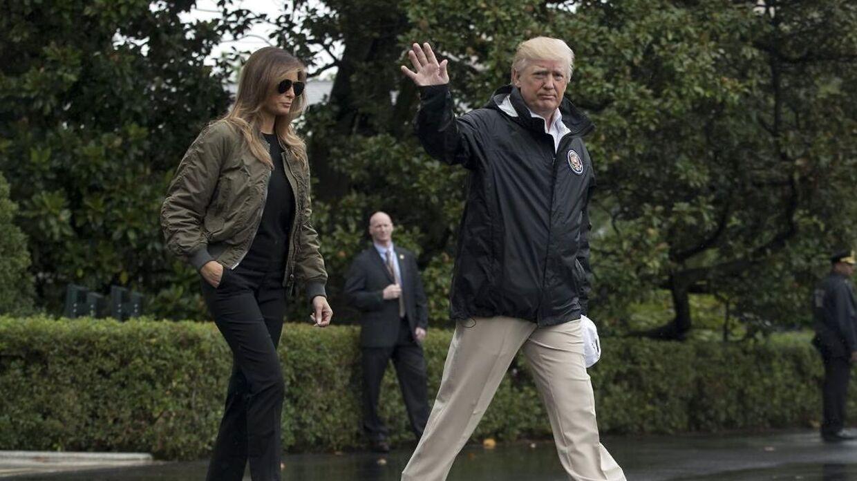 Melania Trump forlod Det Hvide Hus i høje stiletter.