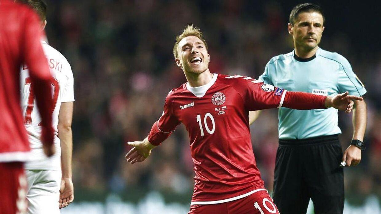 Christian Eriksen scorede for Danmark og får topkarakter af BT