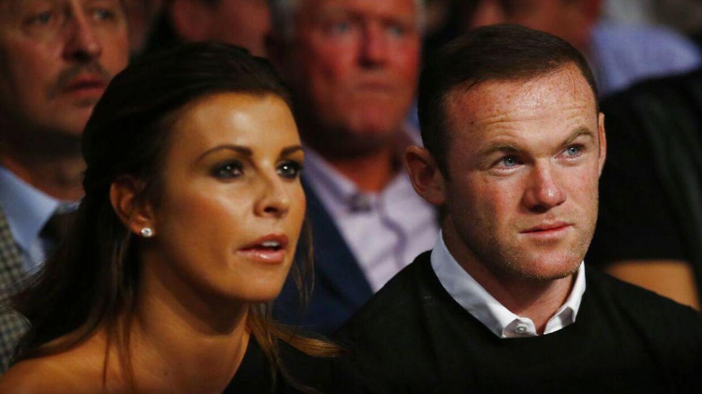 Coleen og Wayne Rooney sammen.