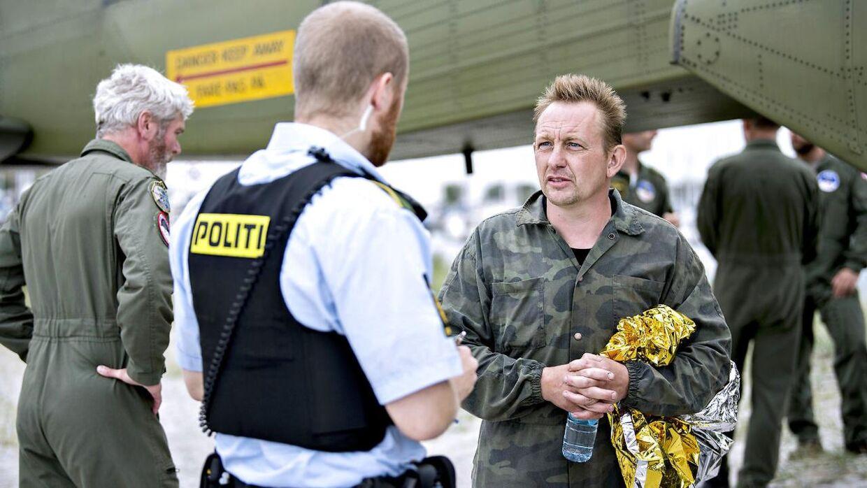 Peter Madsen sikkert i land i Dragør havn efter u-bådsforlis fredag d. 10. august 2017- Se RB KRIMINAL 07.29. Politiet fortæller på Twitter, at dna-profilen på liget matcher med den forsvundne journalist Kim Wall.. (Foto: Bax Lindhardt/Scanpix 2017)