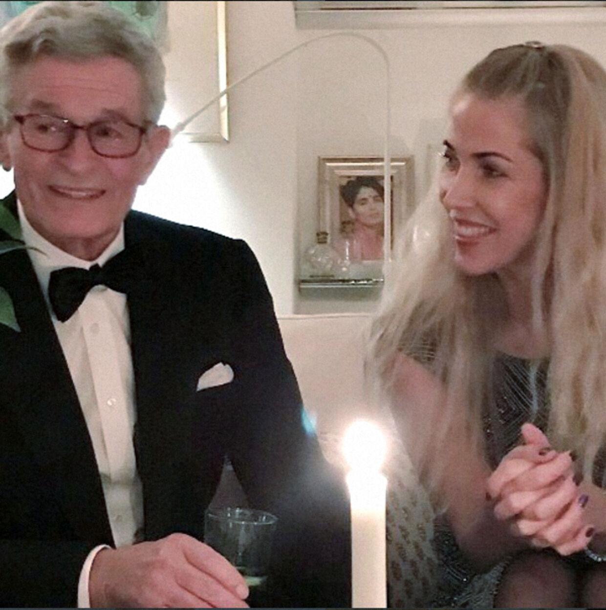 Peter og Henriette Zobel bevarede kontakten trods deres skilsmisse og talte dagligt sammen. Her ses de i et privat øjeblik.