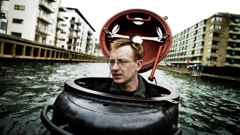 På arkivbilledet: Peter Madsen i sin hjemmebyggede ubåd Freya