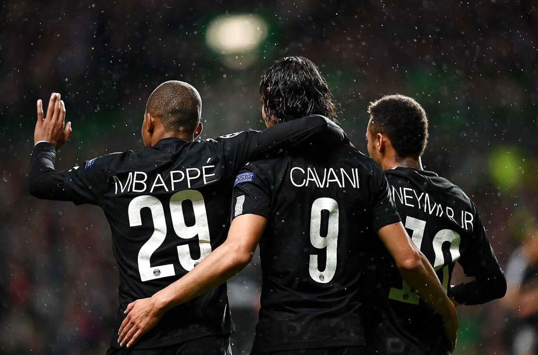 Den dødelige trio MCN - Mbappé, Cavani og Neymar - kom alle på tavlen i storsejren over Celtic.