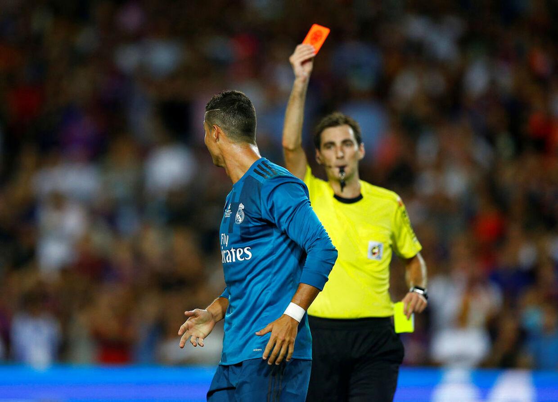 Ronaldo har stadig ikke optrådt i La Liga efter sit røde kort i den spanske Supercup.