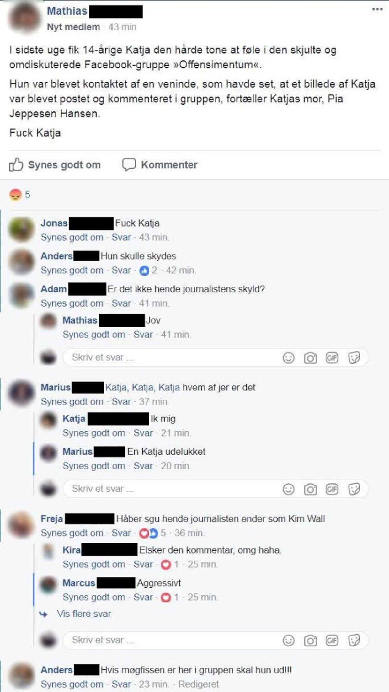 Screenshot fra Facebook-gruppen Offensimentum 2.0.